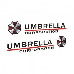 Наклейка на авто корпорация Амбрелла (umbrella corporation)