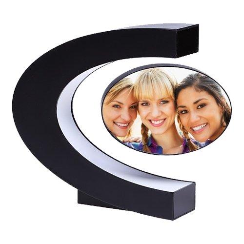 Магнитная левитирующая фоторамка с подсветкой на 2 фотографии - фото 2